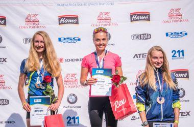 Medaile z MČR v biatlonu na kolečkových lyžích