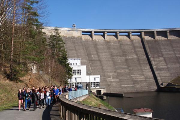 Praktická výuka na Vírské přehradě a úpravně vody Švařec