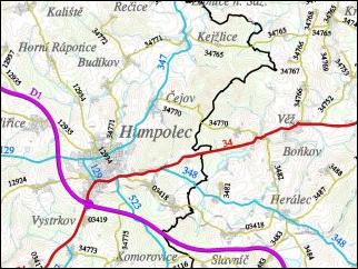 Mapa silniční sítě